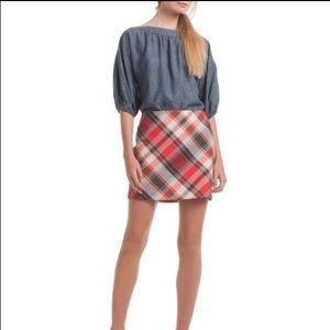 Trina Turk Rico Plaid Mini Skirt